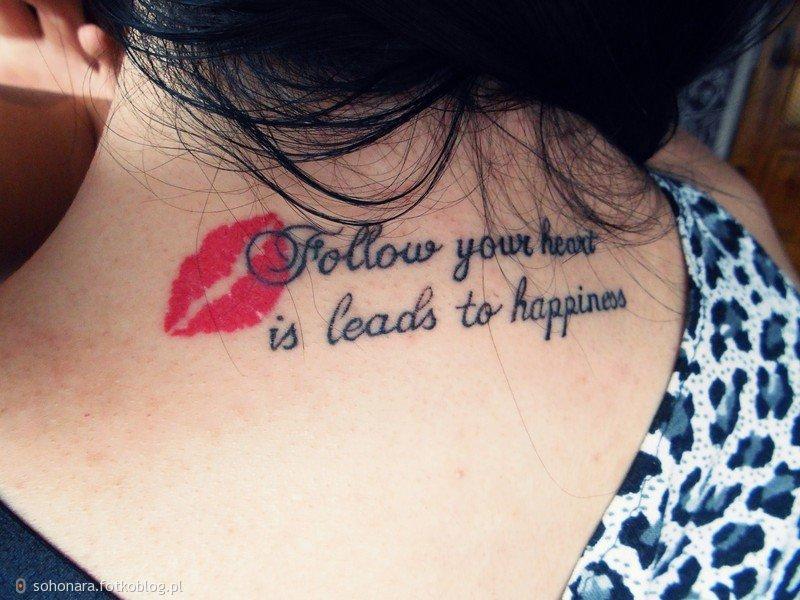 Tatuaż Na Karku Fotoblog Sohonarafotkoblogpl