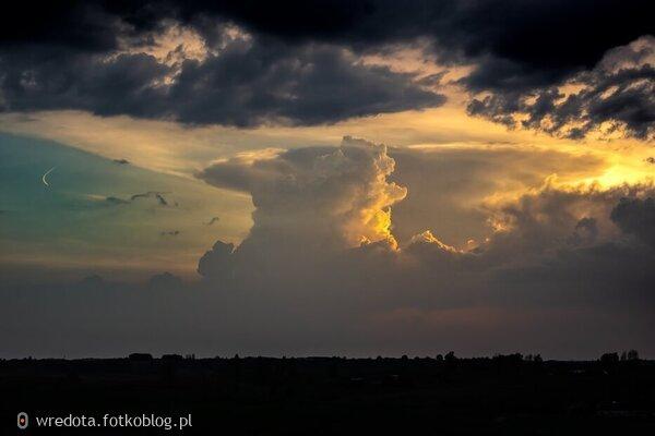burzowe chmury....ale widok piękny