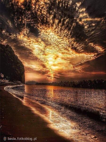 piękny zachód...