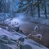 Nawet, spacerując w śniegu z przyjacielem, zima wydaje być się słonecznym środkiem lata.  ..  ::